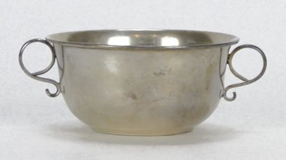10: VINTAGE STERLING SILVER DOUBLE HANDLED BOWL