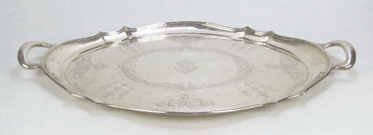 16: IMPRESSIVE ANTIQUE ETCHED TIFFANY 12567 STERLING TR