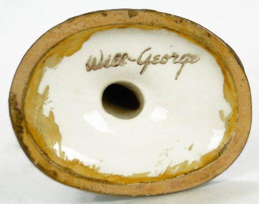 151A: RARE WILL GEORGE PORCELAIN PINK FLAMINGO FIGURINE - 5