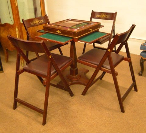 104 Monopoly Game Table Chairs Franklin Mint