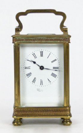 20: ANTIQUE FRENCH BRONZE CARRIAGE CLOCK