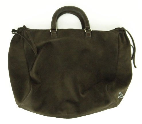 15: LARGE ORIGINAL PRADA SUEDE TRAVEL BAG
