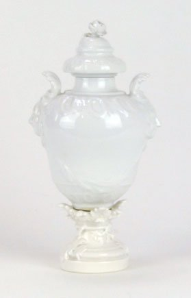8: EXQUISITE KPM BLANC DE CHINE COVERED URN