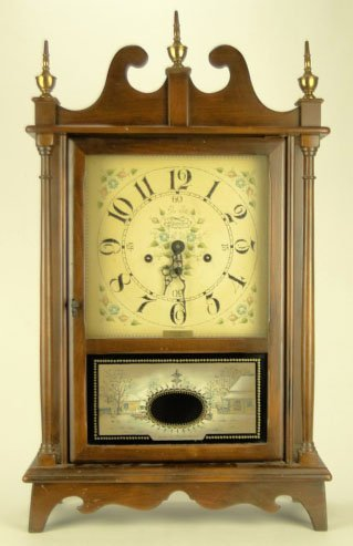 11: VINTAGE NEW ENGLAND CLOCK CO WOOD CASE WALL CLOCK