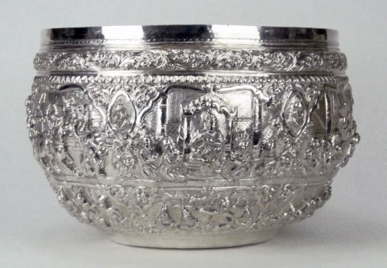 2: HUGE ANTIQUE CONTINENTAL SILVER PUNCH BOWL