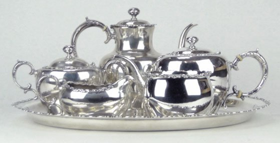 3: WHITING 6PC STERLING SILVER TEA SERVICE