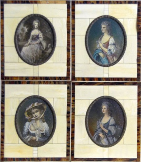 5: COLLECTION FOUR IVORY MINIATURES