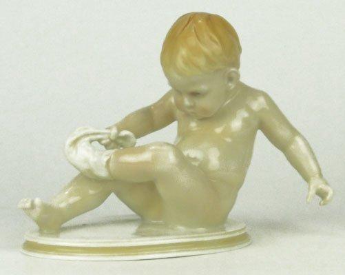 6: VINTAGE GERMAN VOLKSTEDT PORCELAIN BABY FIGURINE