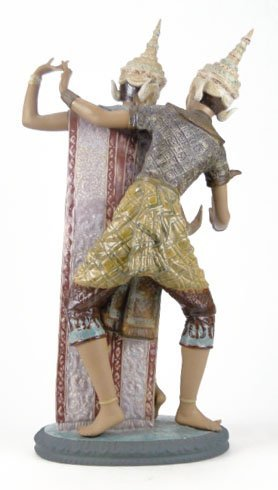 69: LLADRO THAI DANCERS PORCELAIN FIGURINE #2058 - 3