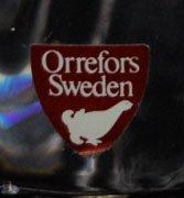 166: LARGE ORREFORS SWEDEN CRYSTAL EAGLE FIGURINE - 3