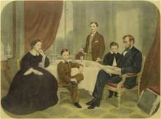 289 19th Century Engraving Abraham Lincoln Family