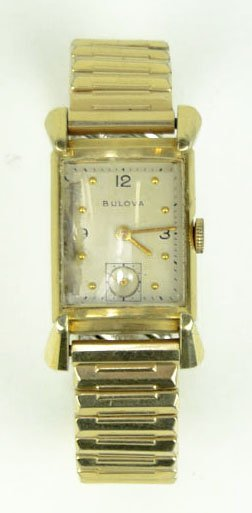 16: 14KT YELLOW GOLD 1940's VINTAGE BULOVA