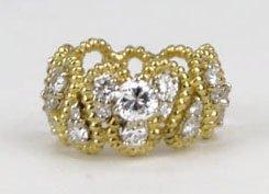 18: ESTATE 18KT YELLOW GOLD & DIAMOND RING
