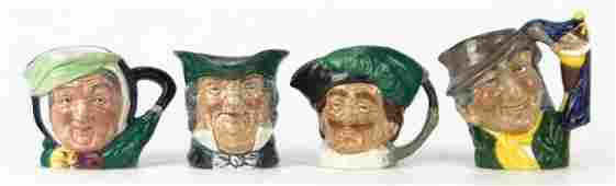 137 FOUR SMALL VINTAGE ROYAL DOULTON TOBY MUGS