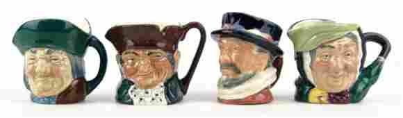 143 FOUR SMALL VINTAGE ROYAL DOULTON TOBY MUGS