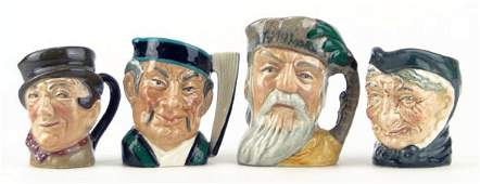 176 FOUR SMALL VINTAGE ROYAL DOULTON TOBY MUGS