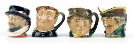 178: FOUR SMALL VINTAGE ROYAL DOULTON TOBY MUGS