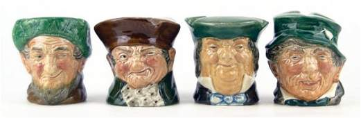 179: FOUR SMALL VINTAGE ROYAL DOULTON TOBY MUGS