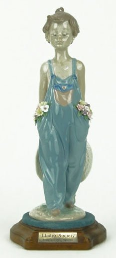 """1: LLADRO TITLED """"POCKET FULL OF WISHES"""""""