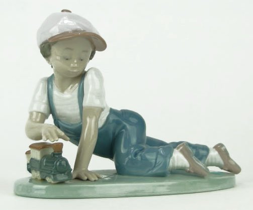 """2: LLADRO TITLED """"ALL ABOARD"""""""
