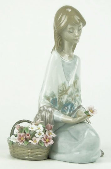 """10: LLADRO TITLED """"FLOWER SONG"""""""