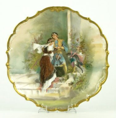 ANTIQUE HAND PAINTED LIMOGES CHARGER