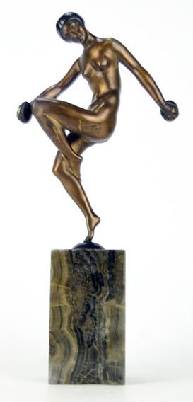 ART DECO BRONZE BY P. BUBERRY
