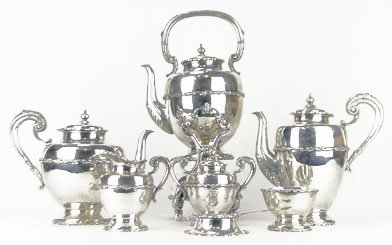 SANBORNS HEAVY STERLING SILVER TEA AND COFFEE SERVING S