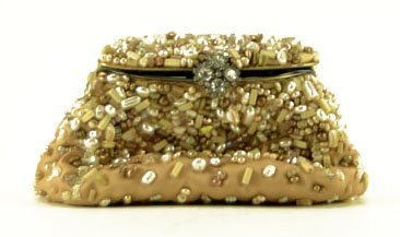 MARY FRANCES PURSE WITH SEMI PRECIOUS JEWELS AND STONES