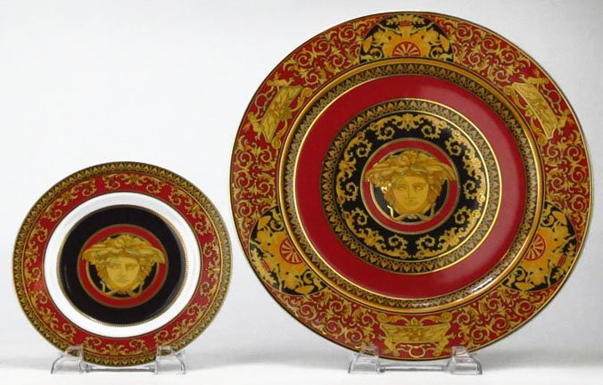 TWO VERSACE ROSENTHAL CHARGERS