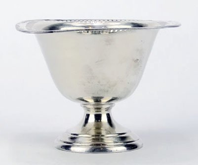VINTAGE STERLING SILVER RETICULATED FOOTED BOWL