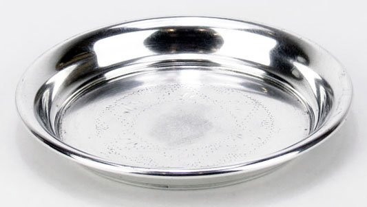 VINTAGE JUDAIC KIDDUSH CUP WITH UNDER TRAY