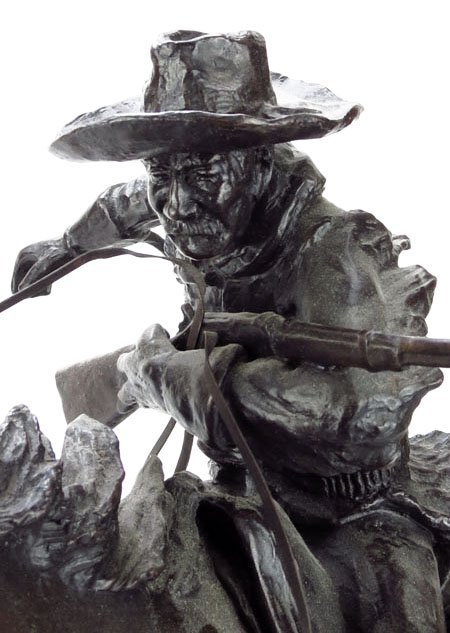 """LARGE BRONZE TITLED """"THE WINCHESTER RIDER"""" - 3"""