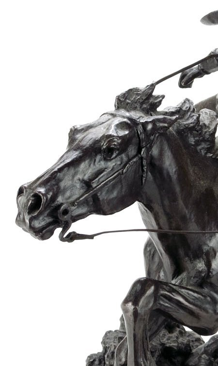 """LARGE BRONZE TITLED """"THE WINCHESTER RIDER"""" - 4"""