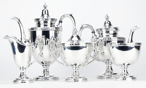 Five (5) Piece Sterling Silver Coffee and Tea Service