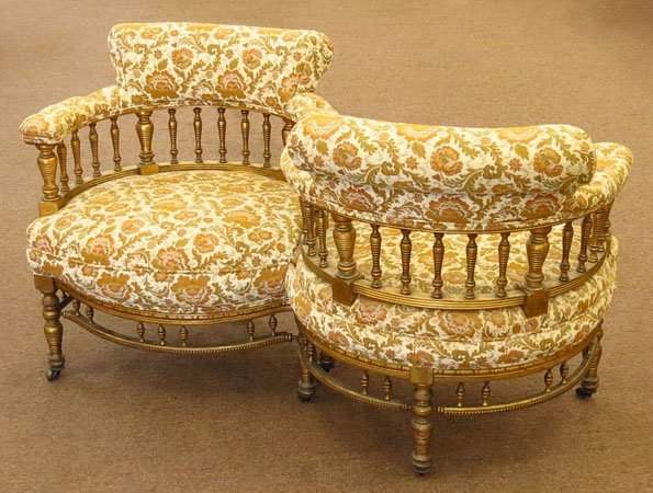 LOVELY VICTORIAN LOVERS CHAIR
