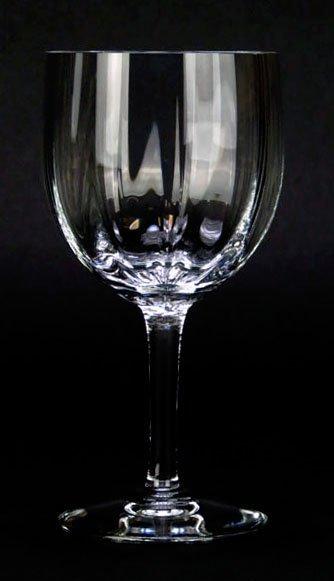 EIGHT BACCARAT MONTAIGNE OPTIC WINE GLASSES