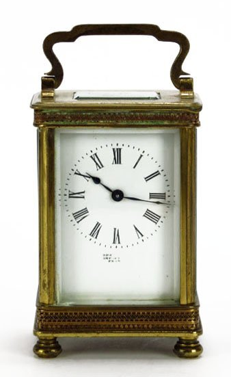 ANTIQUE FRENCH BRONZE CARRIAGE CLOCK