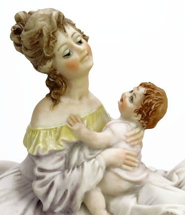 B. MERLI FIGURINE OF MOTHER WITH BABY - 3