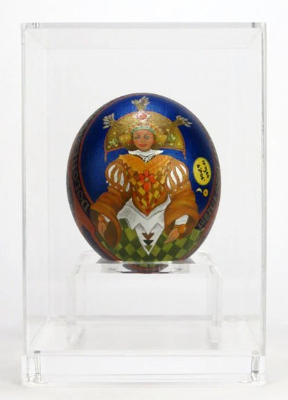 FABULOUS RUSSIAN HAND PAINTED OSTRICH EGG