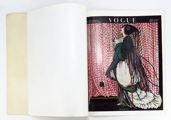 ANTIQUE VOGUE POSTER BOOK WITH FRAME-ABLE POSTERS - 2