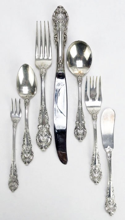 ROSE POINT by Wallace DINNER KNIVES Sterling Silver BY THE PIECE 12 Available