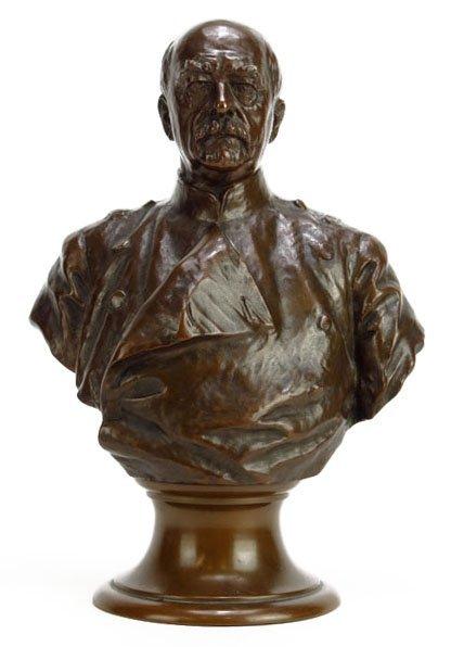 19TH CENTURY BRONZE OF CHANCELLOR BISMARCK BY R. BEGIS