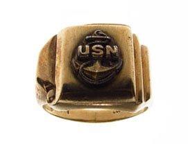 VINTAGE U.S. NAVY 10KT YELLOW GOLD RING