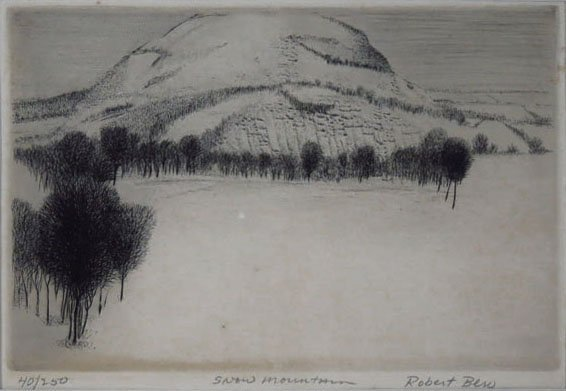 ANTIQUE LITHOGRAPH BY LISTED ARTIST ROBERT BERO