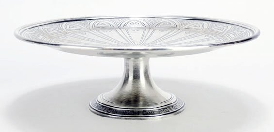 TIFFANY & CO. DECO STERLING SILVER FOOTED BOWL