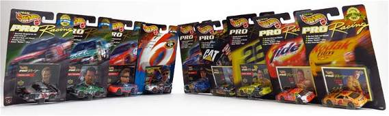 SET OF 9 HOT WHEELS PRO RACING COLLECTIBLE CARS