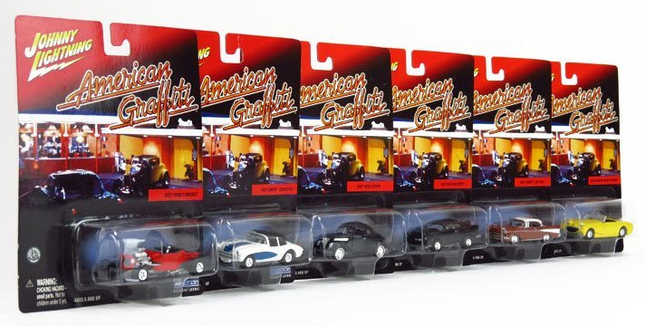 JOHNNY LIGHTNING AMERICAN GRAFFITI COLLECTOR CARS SET