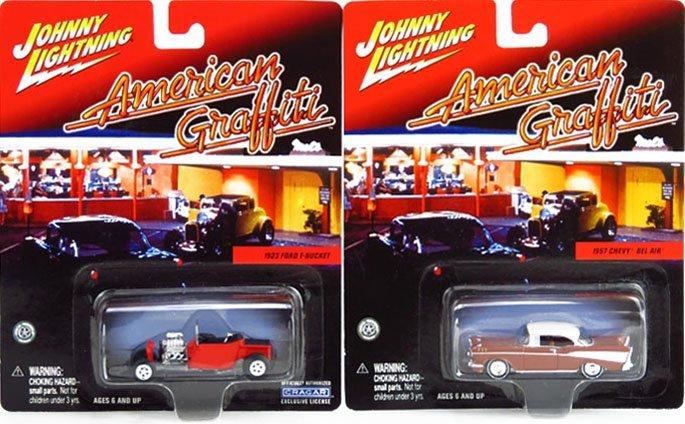 JOHNNY LIGHTNING AMERICAN GRAFFITI COLLECTOR CARS SET - 2