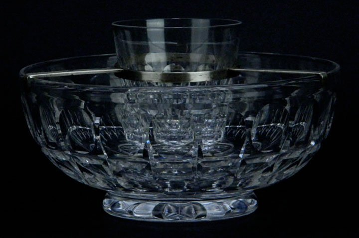 WATERFORD CUT CRYSTAL GLASS CAVIAR SERVER